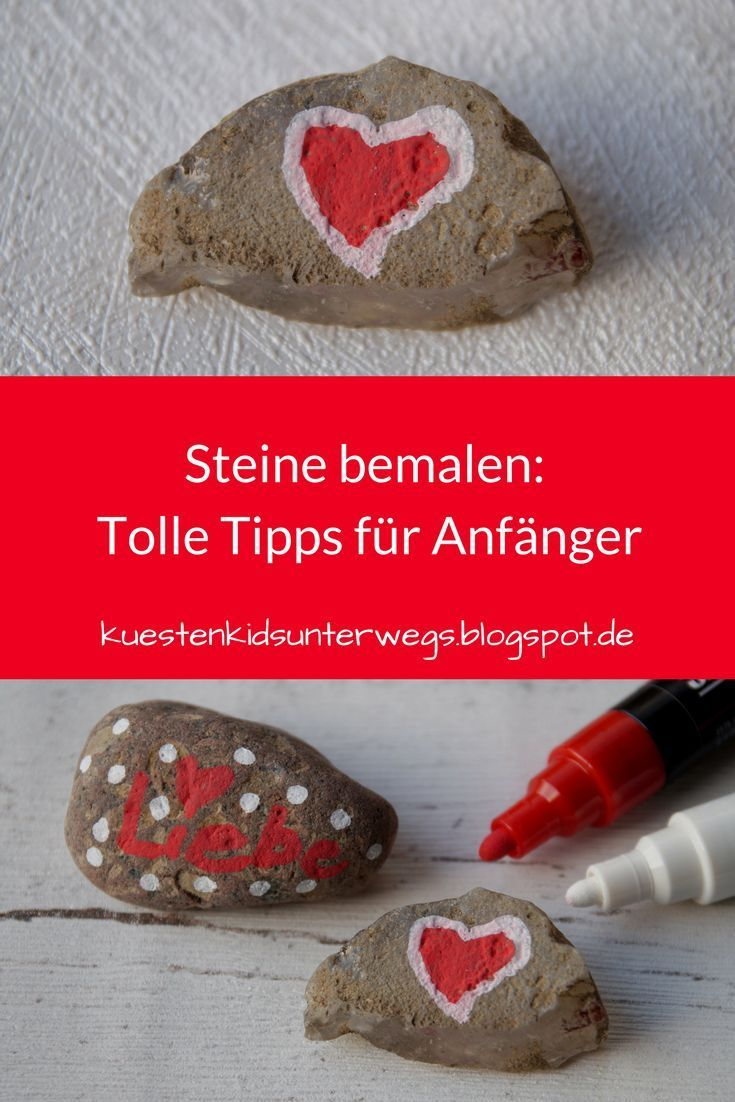 DIY: Steine mit Stiften bemalen - Tipps für Anfänger