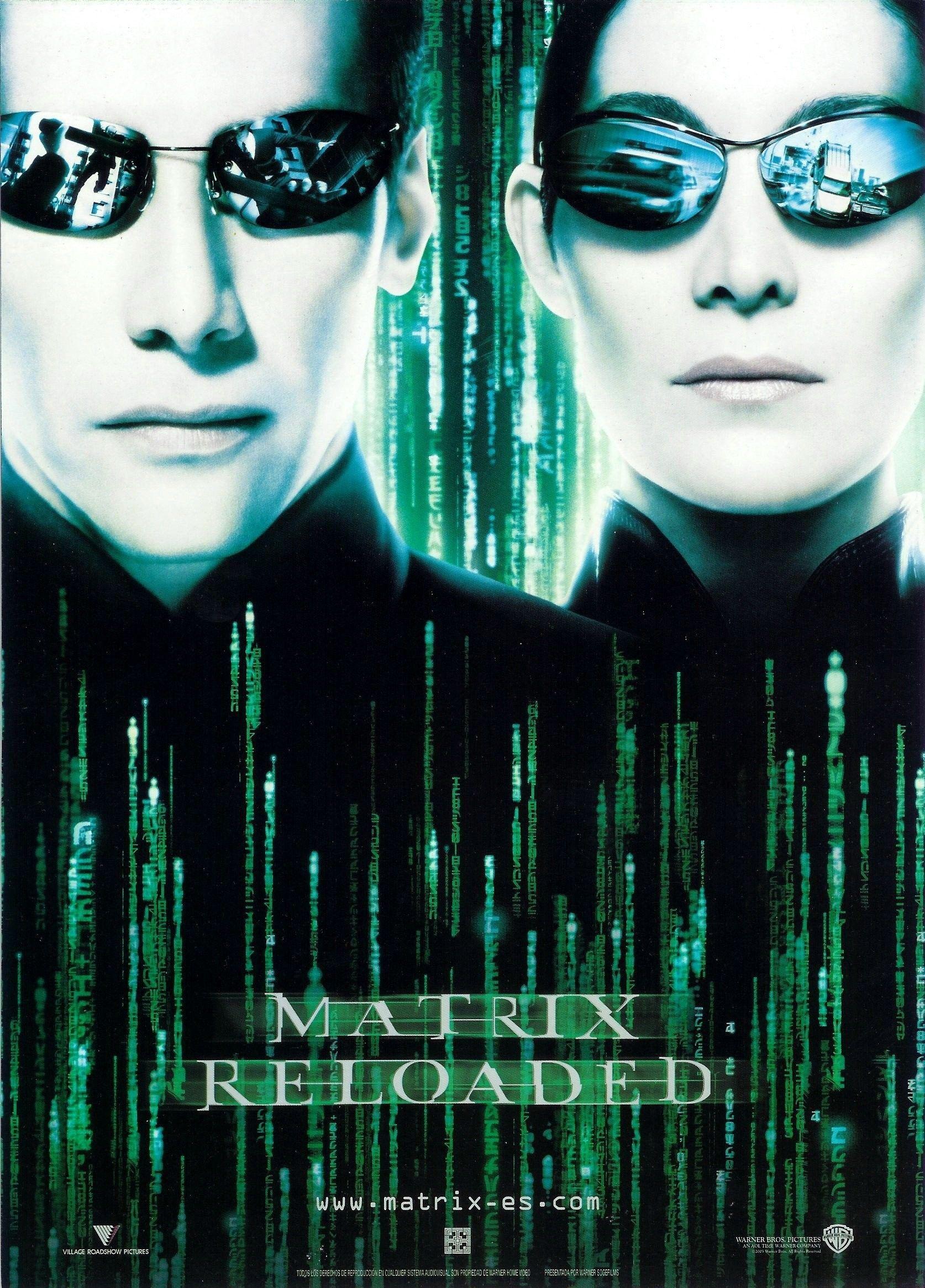 Ver The Matrix Reloaded Online Gratis 2003 Hd Película Completa Español The Matrix Movie Matrix Reloaded Movie Posters