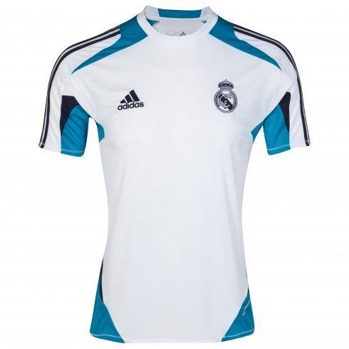 2a2f400677772 Real Madrid 2012 13 Camisetas Entrenamiento Blanca  397  - €16.87    Camisetas de futbol baratas online!