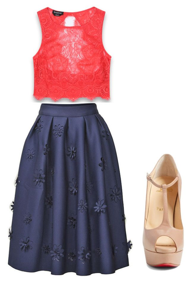 """Untitled #274"" by loveadreamer on Polyvore featuring Bebe and Christian Louboutin"