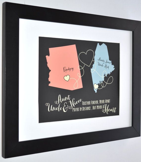 personalized gift for aunt and uncle custom maps by picmats christmas gifts for uncles