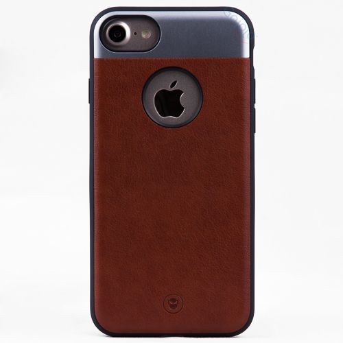 new product b1822 fa3f0 FSHANG iPhone 7/8 Brown Imported PU Leather luxury Case | iPhone ...