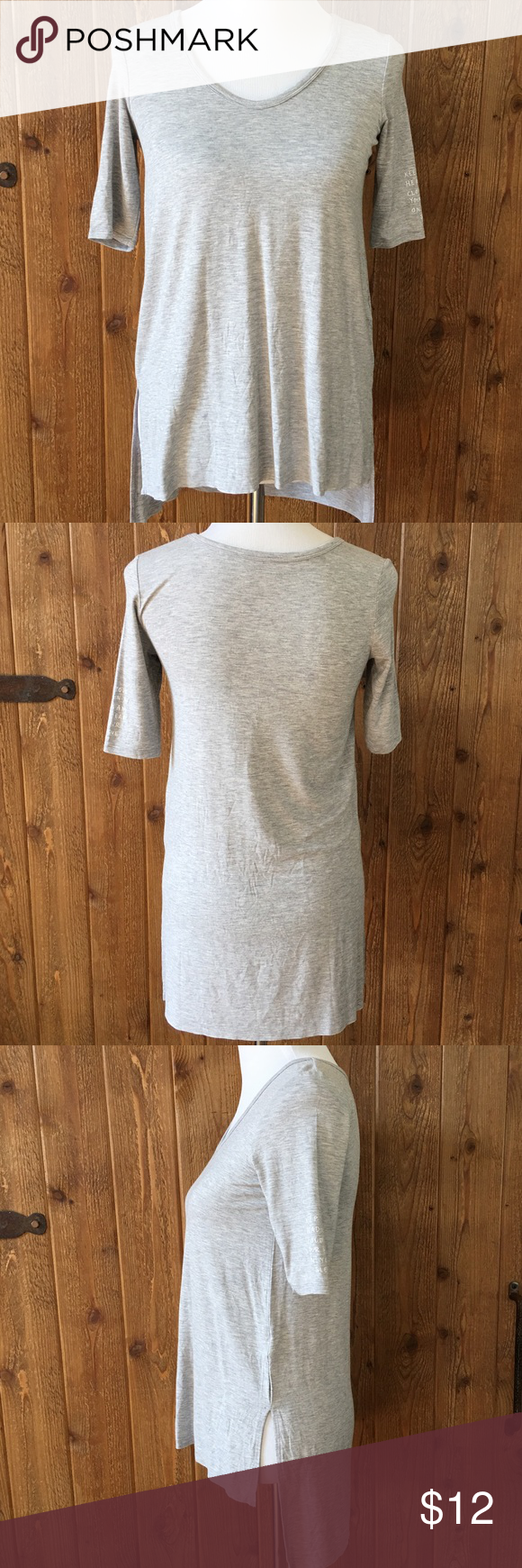 Soft & Sexy Gray Hi Low Tee! Never worn! Soft & Sexy! American Eagle Outfitters Tops