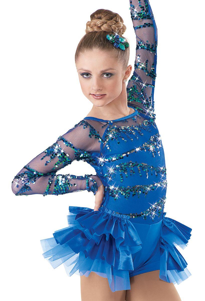 Hot Latin Dance Dress For Girls Ballroom Dancing Skirts Girl Dancewear Kids Kid Women Blue Costume Ballet Vestido Baile Latino Refreshing And Beneficial To The Eyes Novelty & Special Use