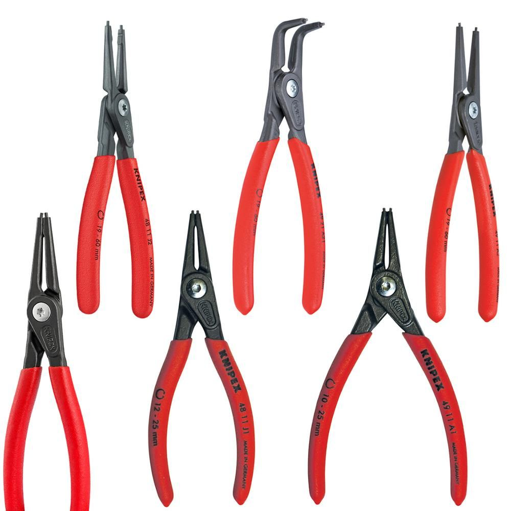 Knipex Snap Ring Pliers Set In Foam Tray 6 Piece 00 20 01 V02 The Home Depot Snap Ring Tool Design Foam