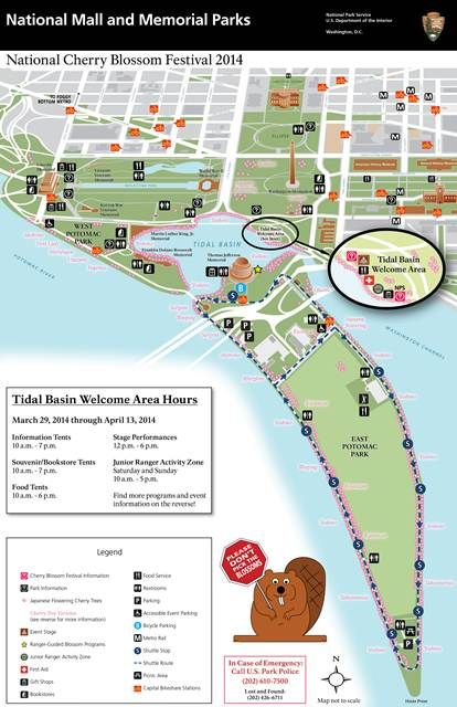 National Cherry Blossom Festival Tidal Basin MallParkMap