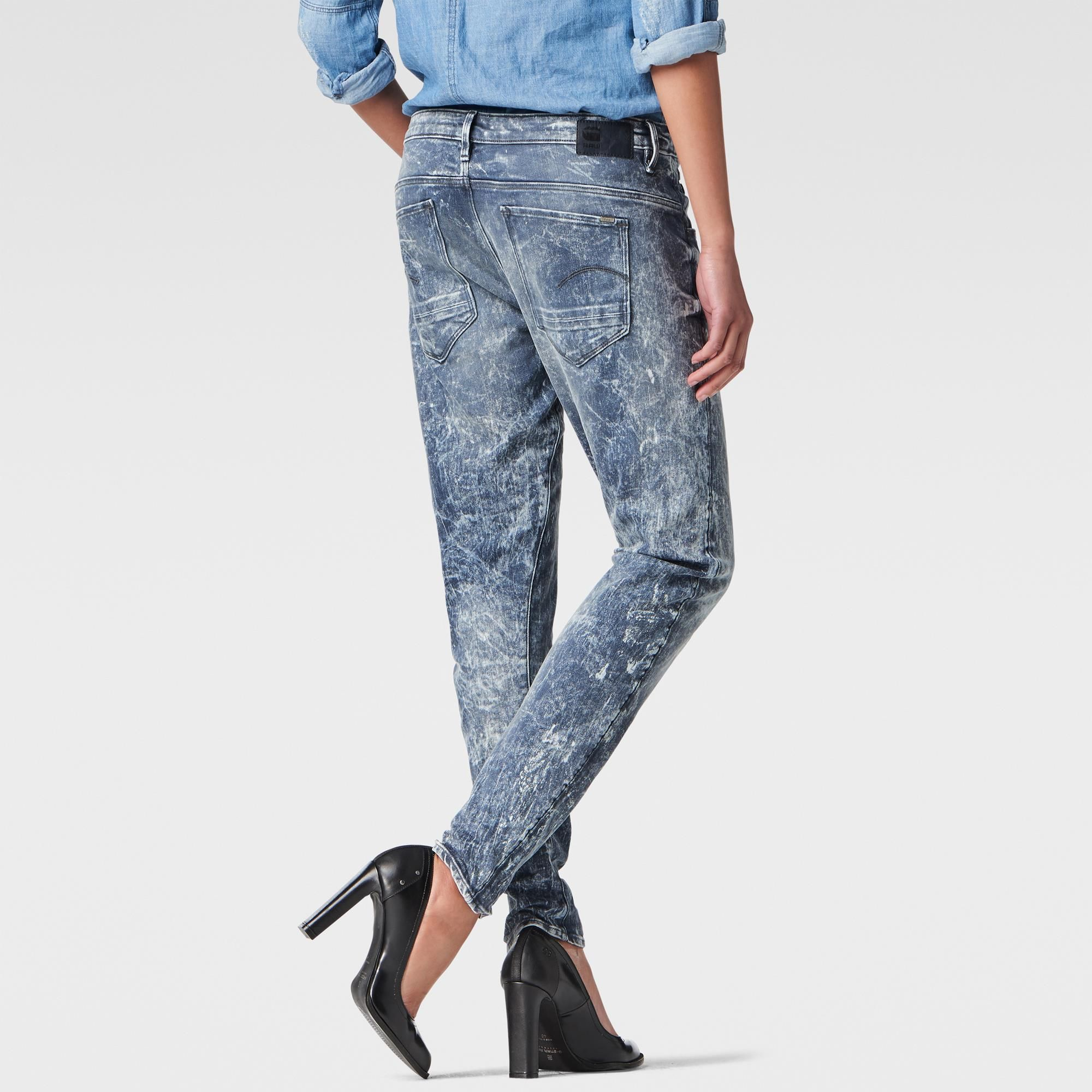 Jackets G-Star RAW 3301 Straight Leg Jeans Dark Aged Womens Jeans Jeans for Women COLOUR-dark aged