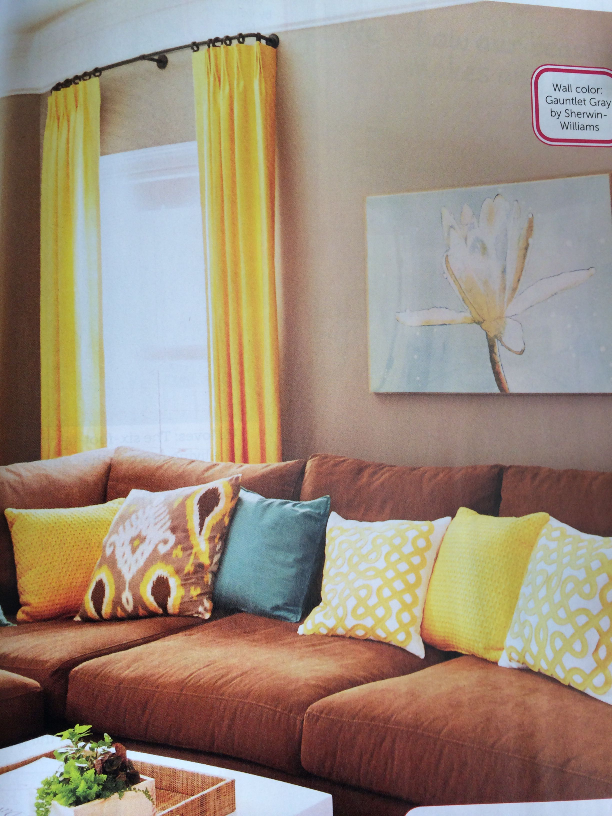 Great Complementary Color For Yellow, Brown, And Teal Accents