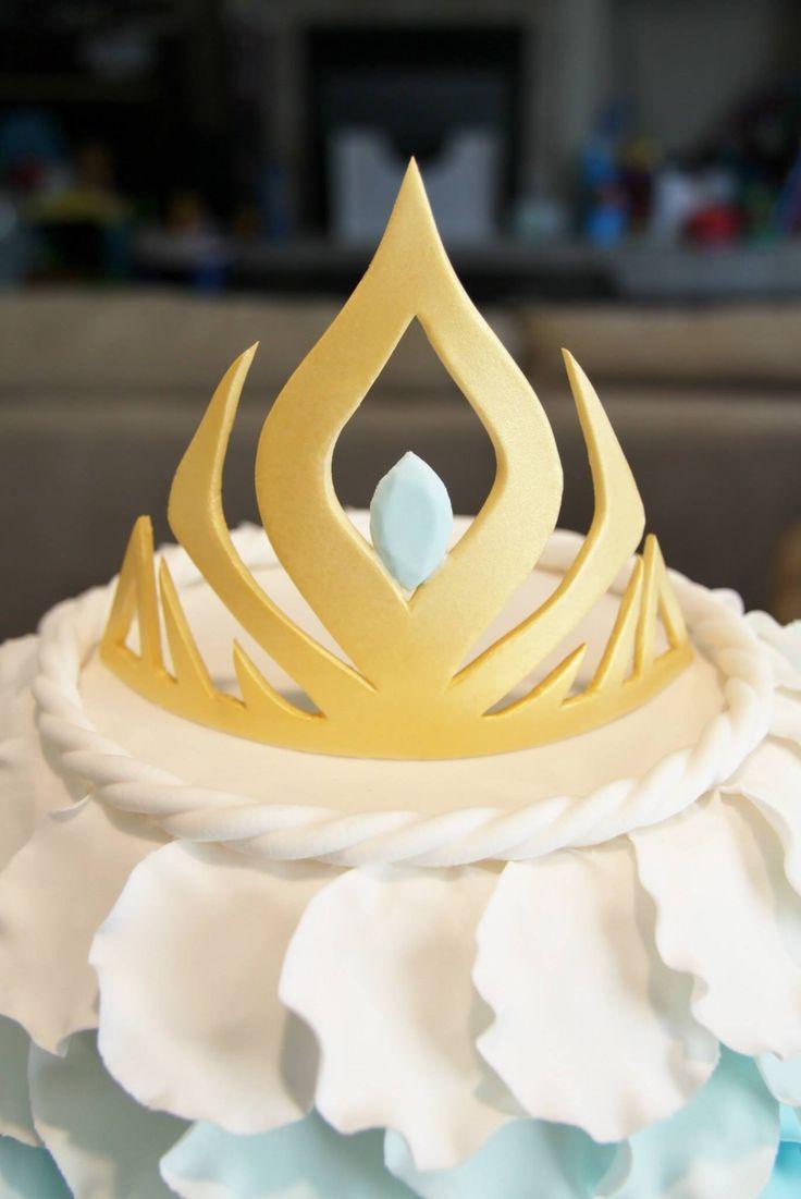 frozen crown cake ideas Disney Frozen Birthday Cake Queen Elsa