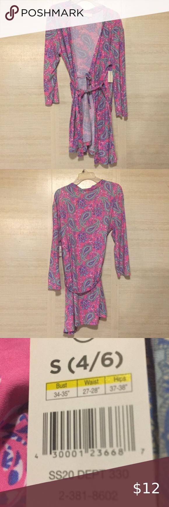 Bobbie Brooks Super Soft Paisley Wrap Dress NWT
