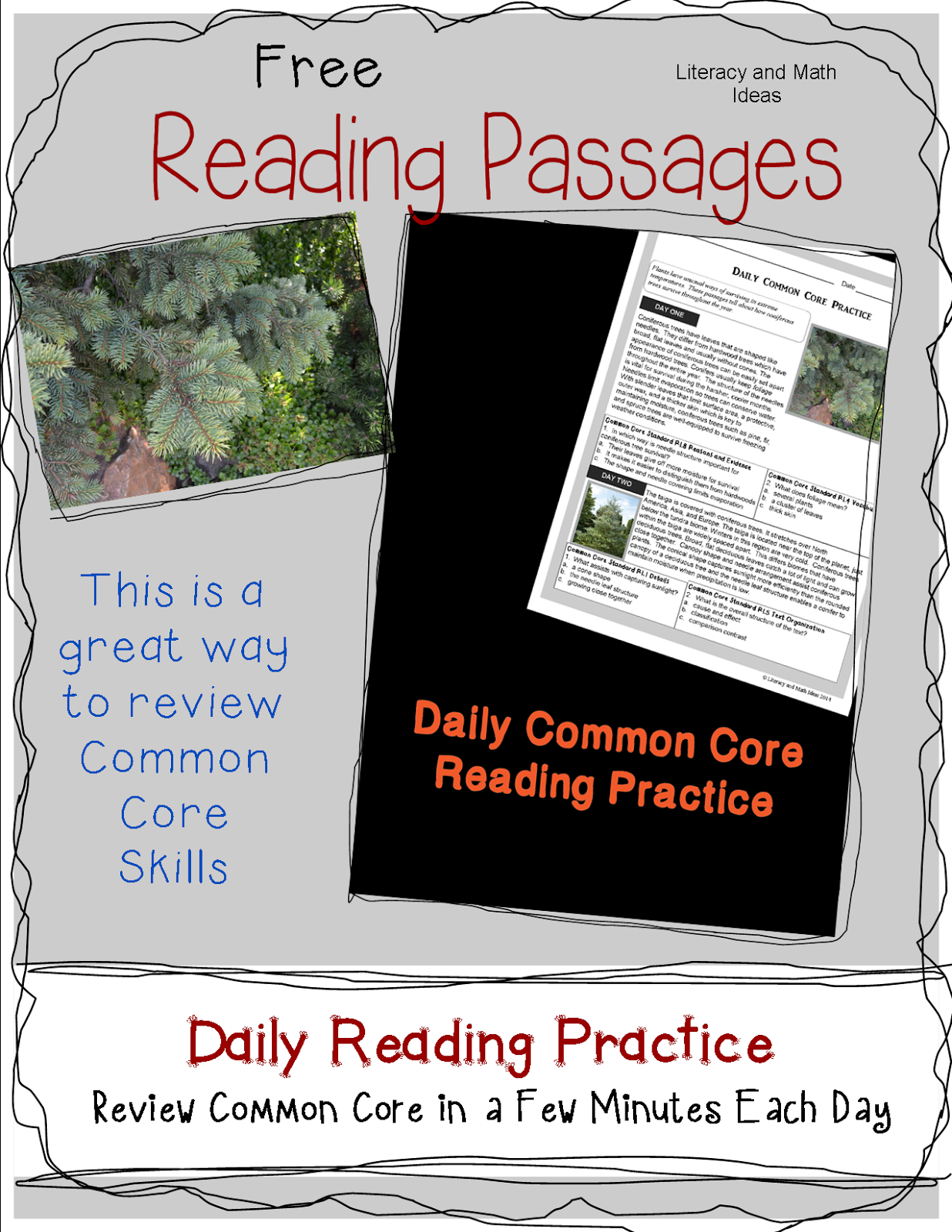 Worksheets Common Core Reading Comprehension Worksheets free daily common core reading passages visit literacy and math ideas to access this