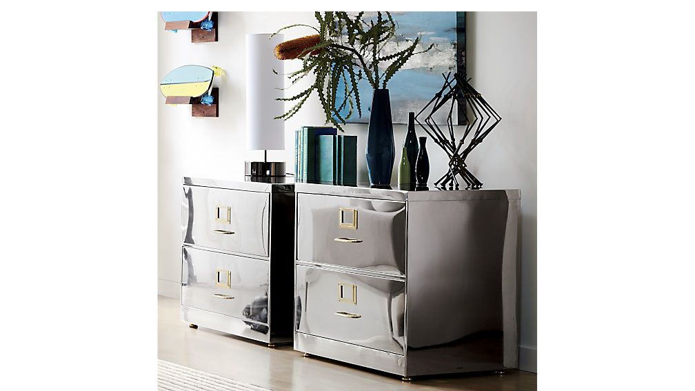 Stainless Steel File Cabinet Cb2