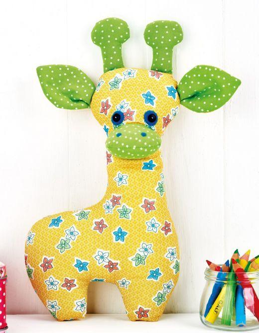 Giraffe Toy Sewing Pattern - Free Card Making Downloads | Projects & Patterns | Digital Craft
