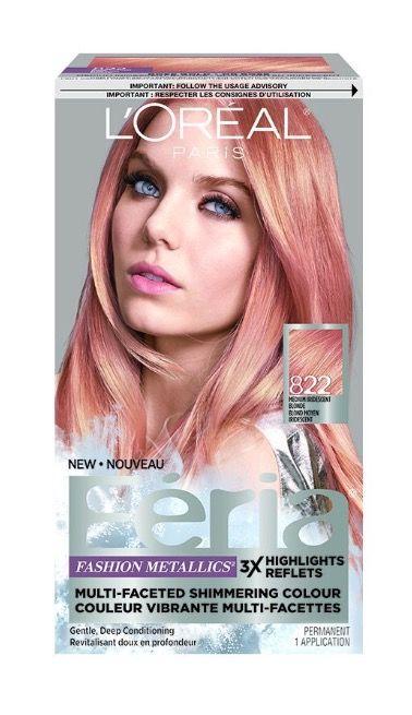 loreal f233ria fashion metallics rose gold hair color
