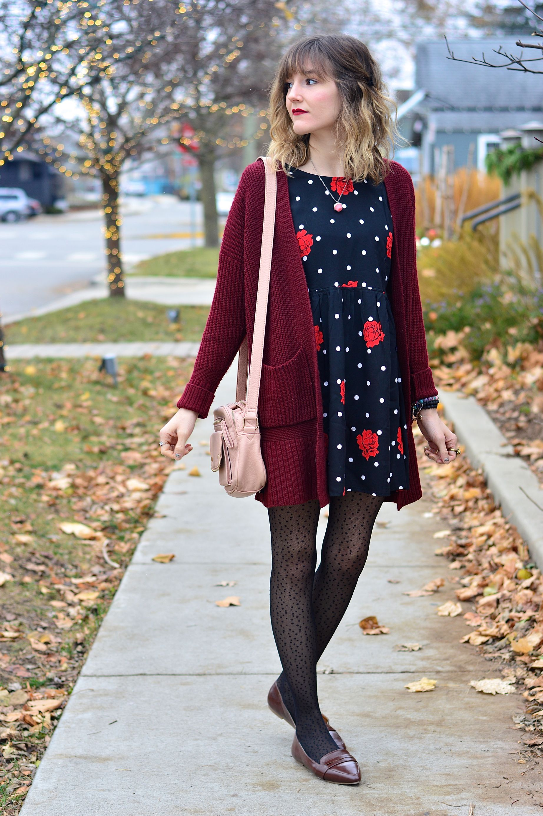 9965ce9961a comfy sweater, dress, and tights fall fashion comfy cozy wears ...