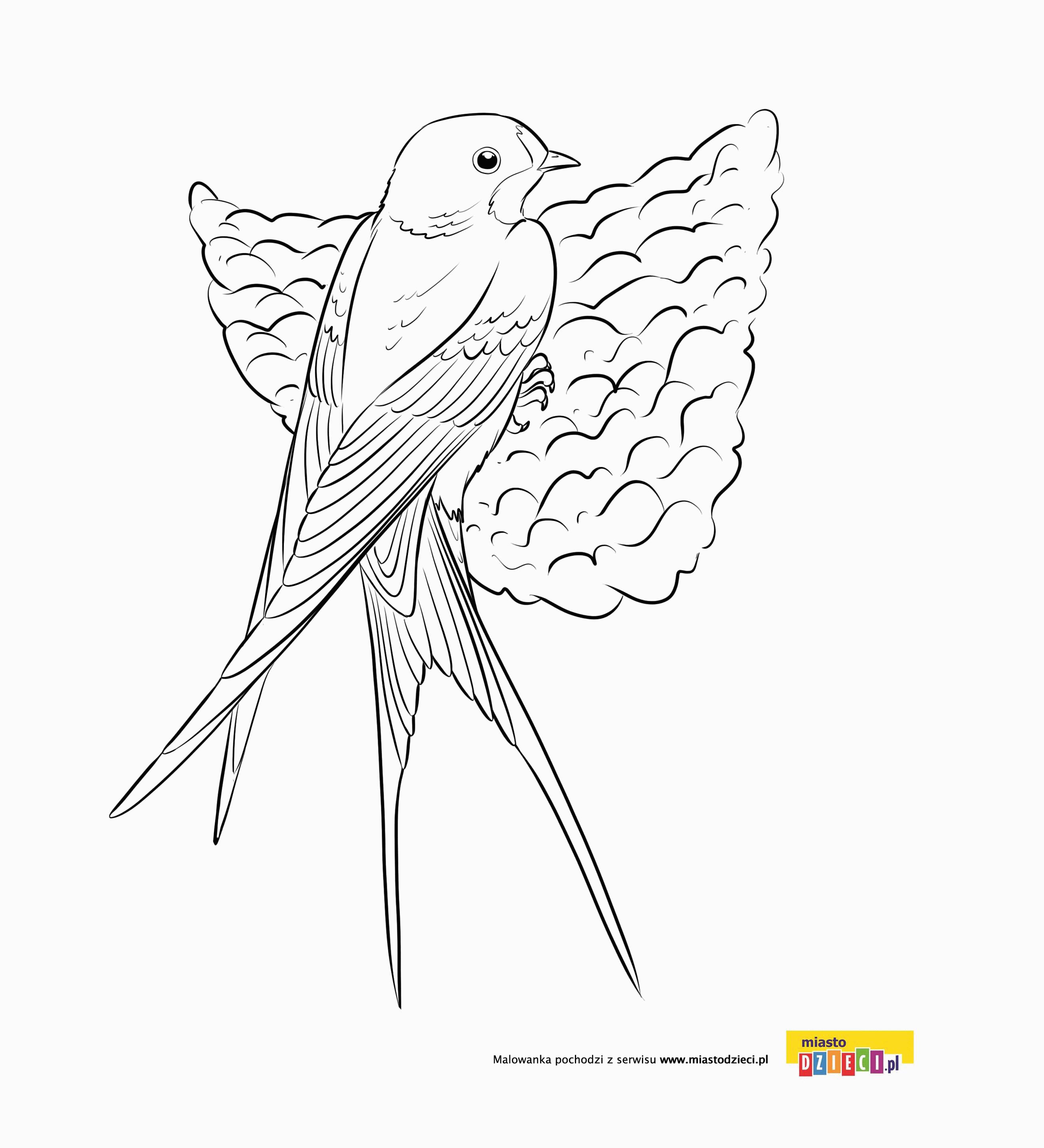 Jaskolka Kolorowanki Wiosna Ptaki Jaskolka W Gniazdku Malowanki Dla Dzieci Do Drukowania Moose Art Animals Embroidery