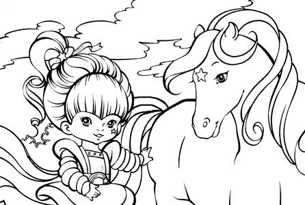 Rainbow Brite Coloring Page 80 S 90 S Coloring Book Pages