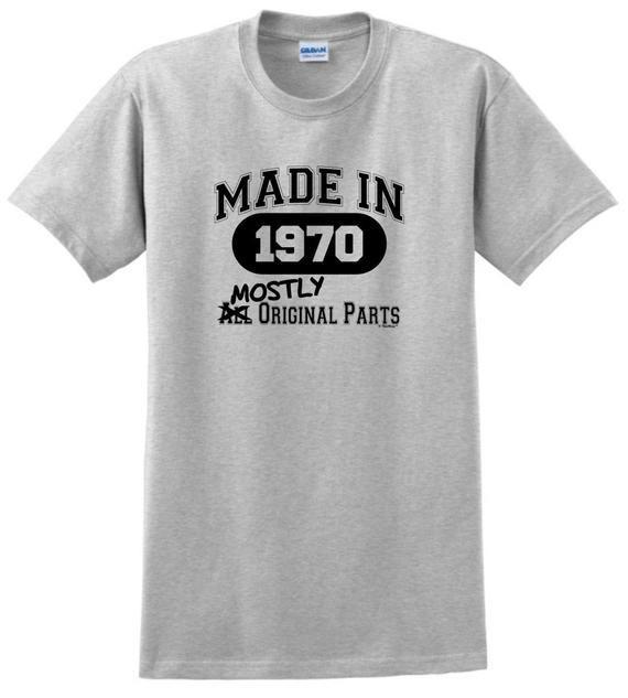 50th Birthday Gifts Made 1970 All Original Parts T-Shirt