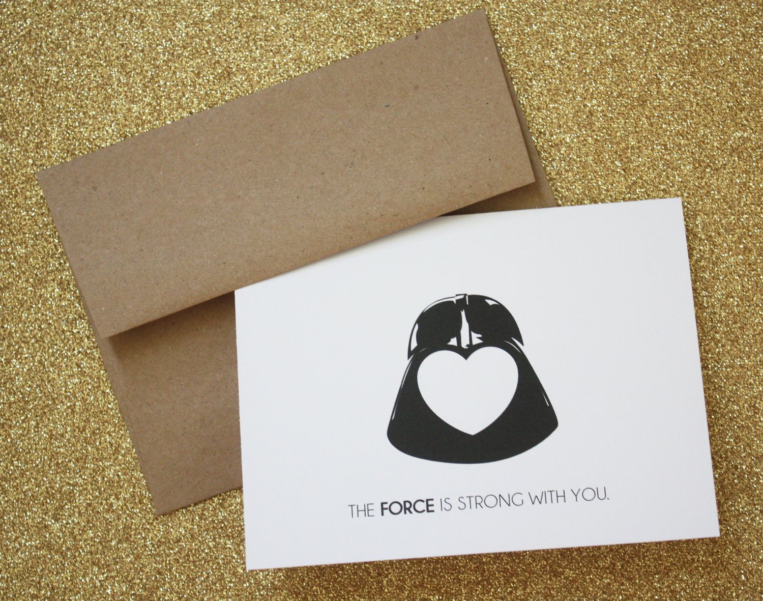 Love star wars card by dovedesignsshop on etsy