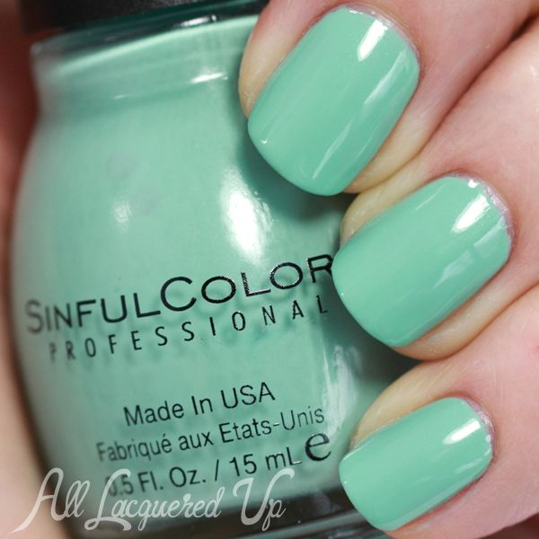 Nail The Trend - Mint Green Nail Polish for Spring | Sinful colors ...