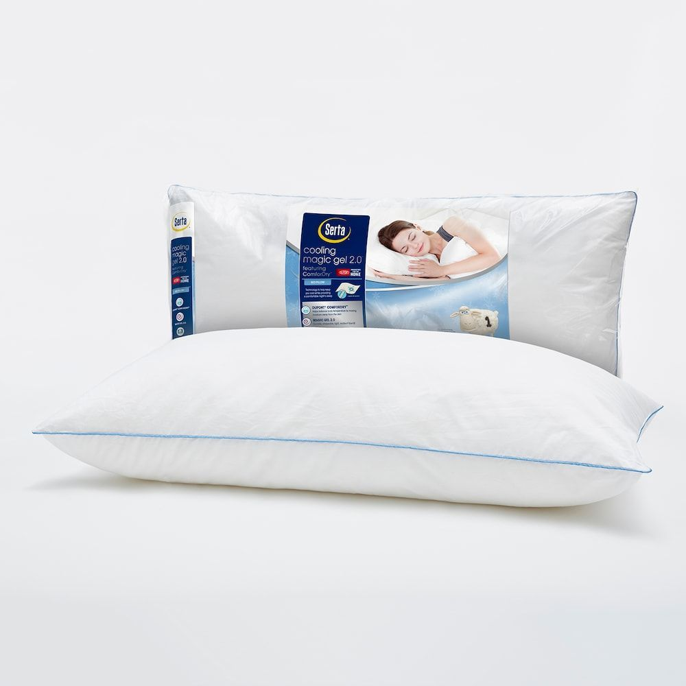 Serta Cooling Magic Gel 2 0 Bed Pillow White Bed Pillows