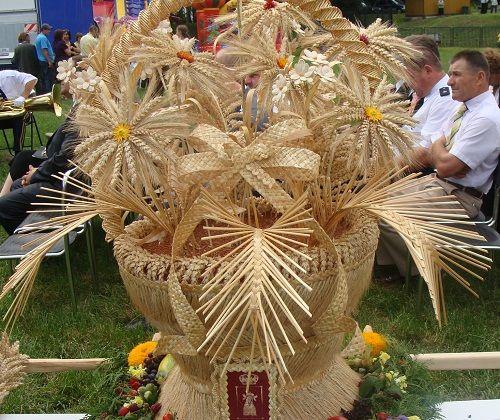Http Trzeszczany Pl Images Article Image Do C5 Bcynki Gminne 202011 Wieniecdozynk Jpg Flowers Birthday Fun Weaving