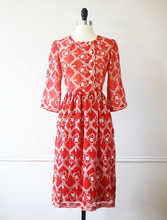 Japanese Vintage Dress Rose Red by StandardVintage