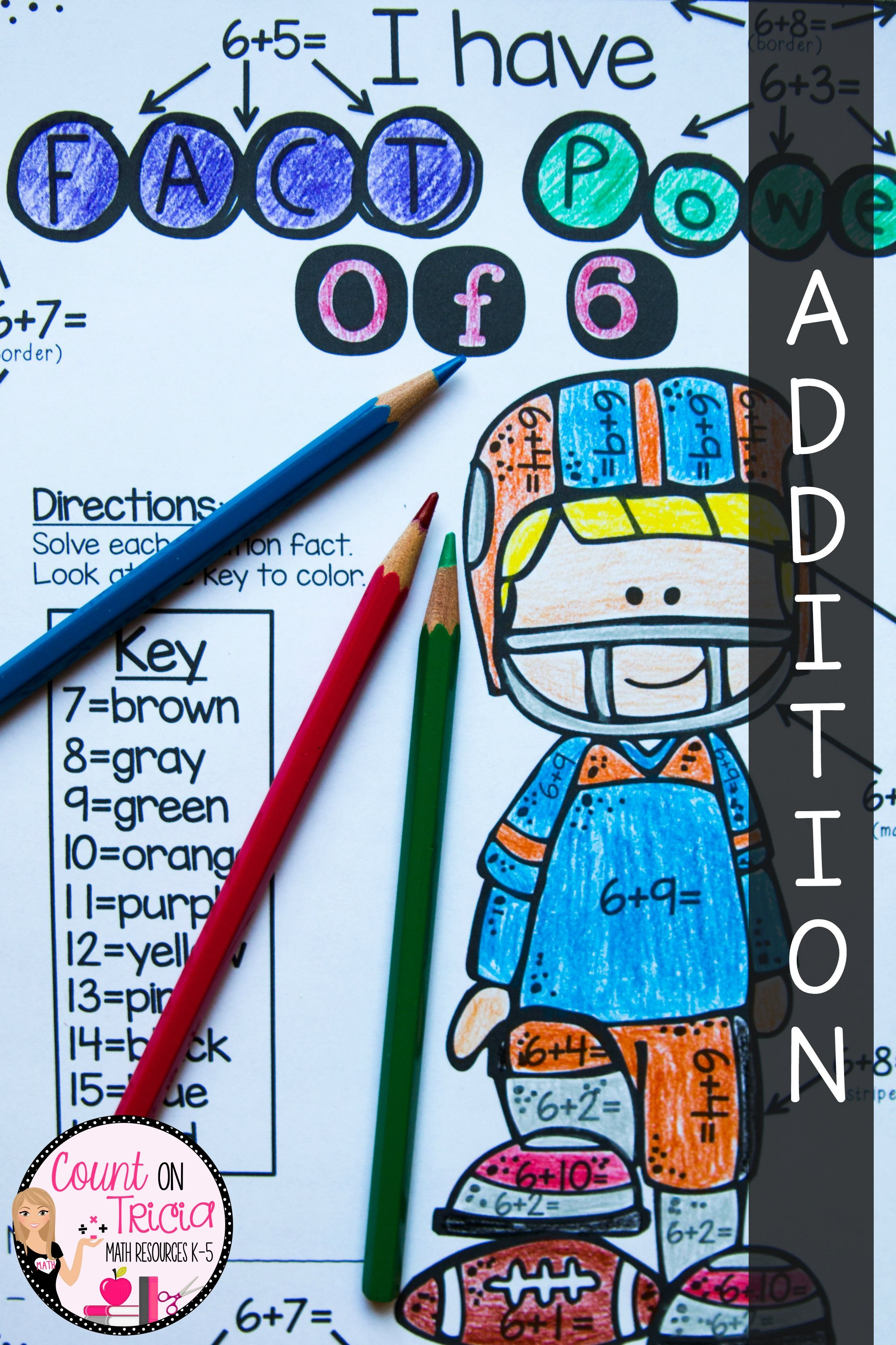 Addition Coloring Sheets