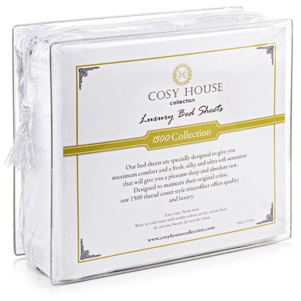 Cosy House Collection Duvet Cover Set 1500 Series Ultra Soft Hypoallergenic