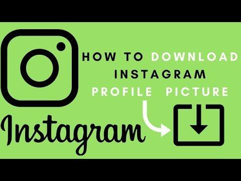 instagram profile picture download