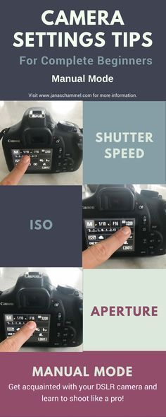 Settings tips for beginners using a DSLR camera. Specifically using the Canon Rebel T6 camera in manual mode. Learn about shutter speed, white balance, ISO, and aperture. Start shooting like a pro!