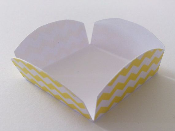 24 Cake Pop / Candy Mini Cups Chevron Lemon by InkWebDesigns, $6.00