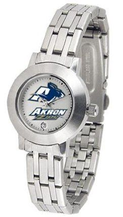 University of Akron Zips Ladies Stainless Steel Watch by SunTime. $79.95. Links Make Watch Adjustable. Women. Officially Licensed Akron Zips Ladies Stainless Steel Watch. Date Display-Quartz Accurate Movement. Stainless Steel-Scratch Resistant Mineral Crystal. Akron Zips ladies watches. Women's elegant Zips dress or casual wrist watch. The dial is presented in a sleek, stainless steel case and bracelet that rests comfortably across the wrist. Features date display, qu...