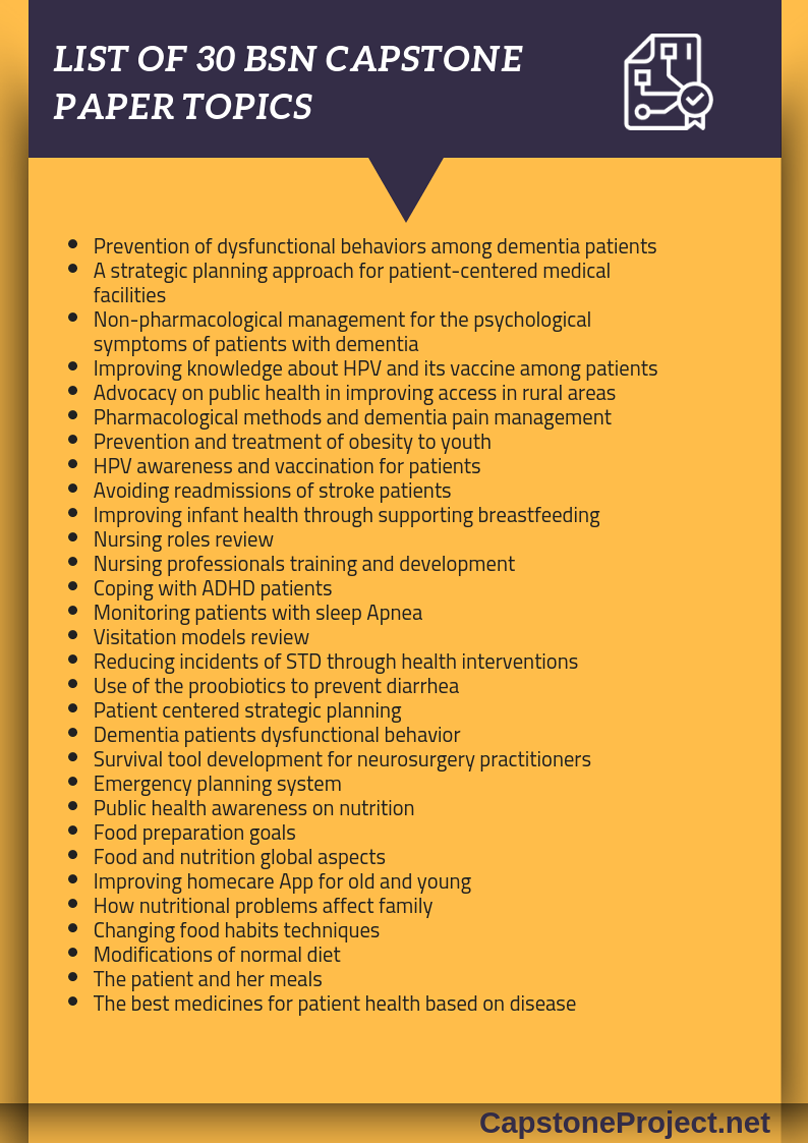 Bsn Capstone Project Topics That You Can Use To Elevate Your Capstone Paper Onto Capstone Project Ideas Evidence Based Practice Nursing Nursing Research Topics