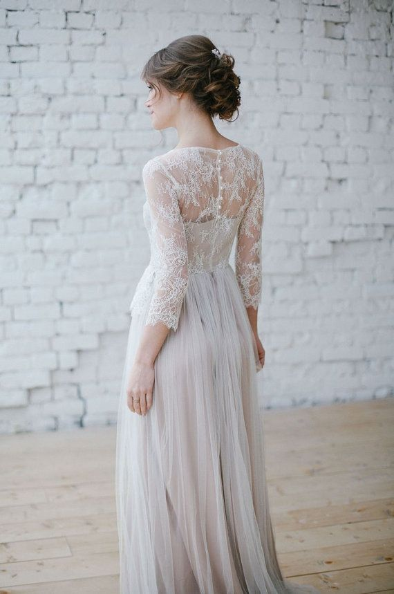 Wedding dress Boho wedding dress Romantic by BridalgardenStudio ...