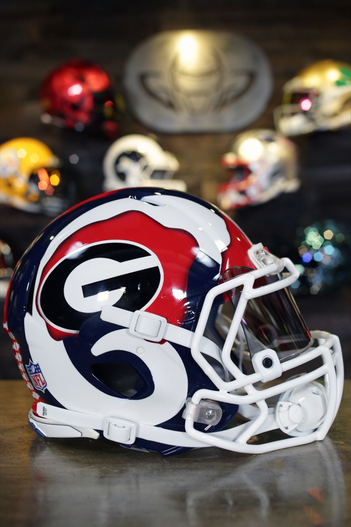 Todd Gurley Ripped Uga Rams In 2020 Football Helmets Custom Football Helmet
