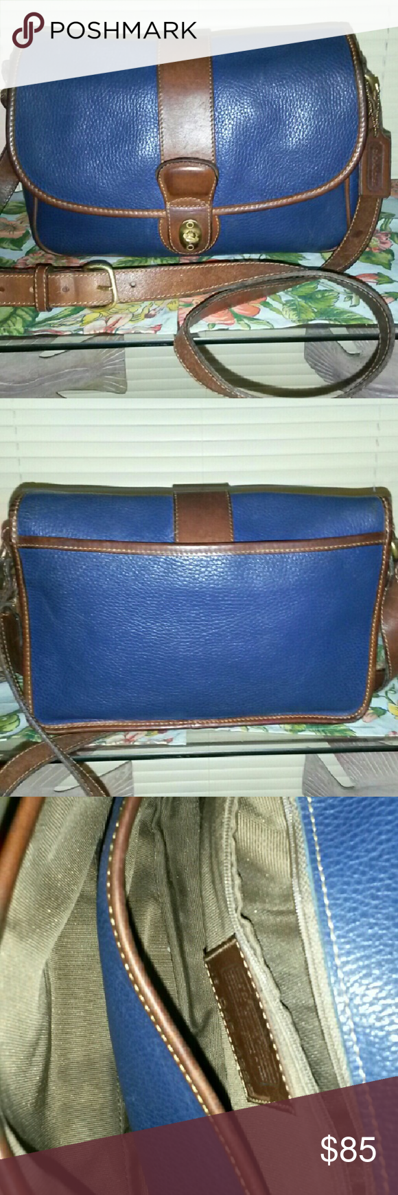 RARE*COACH VINTAGE SHERIDAN GLENWOOD Here we have a rare find. Called a Sheridan Gkenwood in rare Navy Blue! Made in 1994 this Vintage Beauty has held up well for her 23 years of age!  No scuffs to piping. Body luxurious pebbled leather with no signs of damage. Great Bright Navy Blue in color! Vintage Coach Sheridan Glennwood Bag 4225, People call her /Hippie Leather Messenger Hipster Brief Boho Retro Square Crossbody Satchel Coach Bags Crossbody Bags