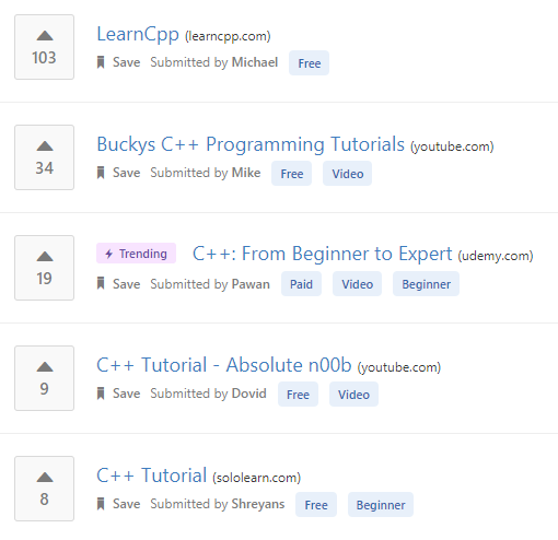 Learn C++ online from the best C++ tutorials   courses recommended by the  programming community. 41e7c0b7225