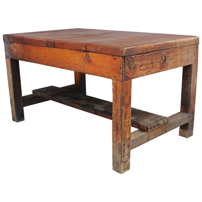 Merveilleux Antique Primitive Bakeru0027s Wood Table | From A Unique Collection Of Antique  And Modern Industrial And Work Tables At ...