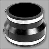 Flexible Rubber Coupling With Hose Clamps 2 X 1 1 2 By American Valve 3 49 Pvc Coupling Pvc Fittings Aquaponics Supplies