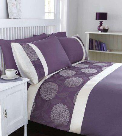 finest housse couette taies violet creme jacquard mural japonais coton grand lit king with. Black Bedroom Furniture Sets. Home Design Ideas