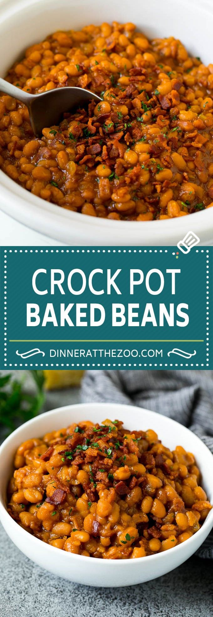 Crock Pot Baked Beans | Slow Cooker Baked Beans