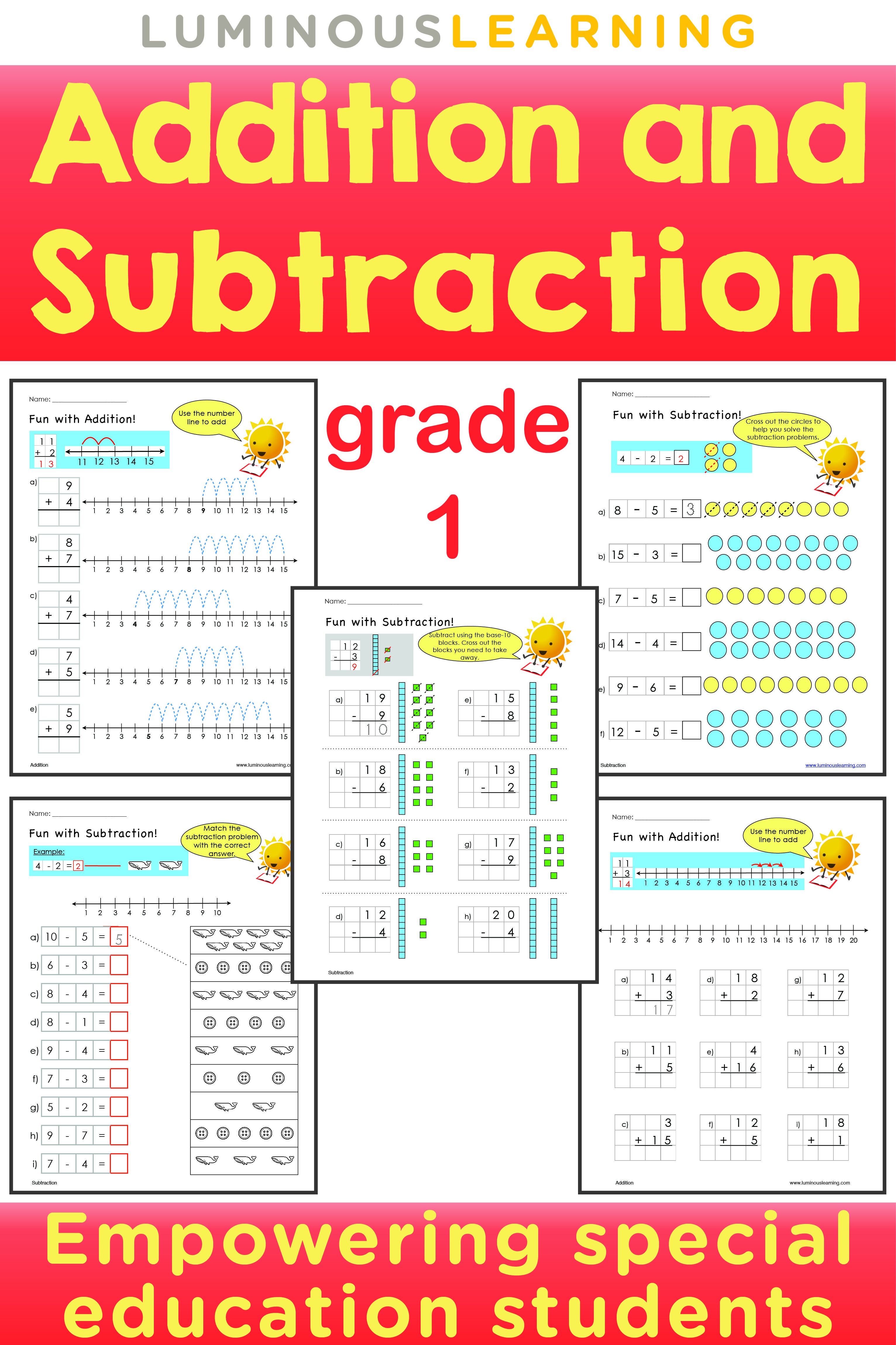 Luminous Learning Grade 1 Addition and Subtraction workbook empowers ...