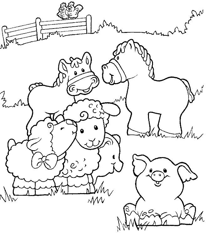 small animal farm healthy coloring pages for kids ejx