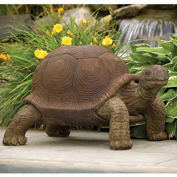 Large Tortoise Concrete garden statues, Outdoor garden