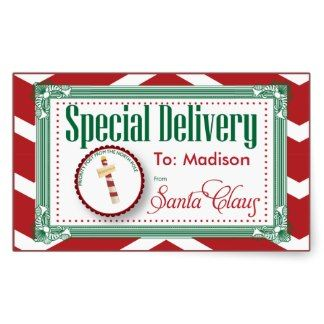 Special Delivery Christmas sticker gift tag #christmas #stickers #giftwrap #holiday