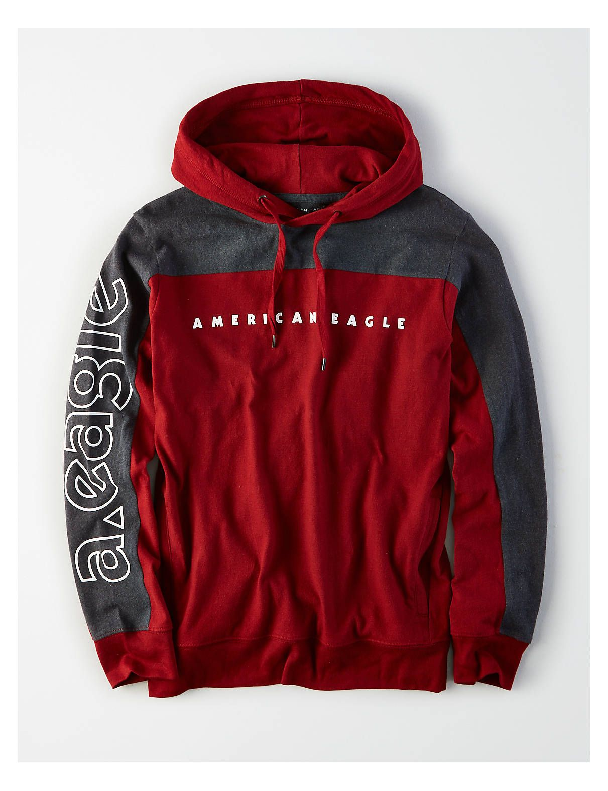 Ae Graphic Hoodie Tee Red American Eagle Outfitters Hoodies Men Style Hoodie Outfit Men Men Fashion Casual Outfits [ 1575 x 1211 Pixel ]