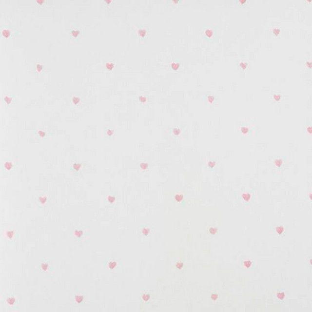 Papel pintado infantil coordone corazones rosa muebles - Papel pintado infantil ...
