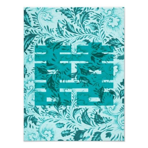 Double Happiness In Aqua Poster Pinterest Aqua Happiness And
