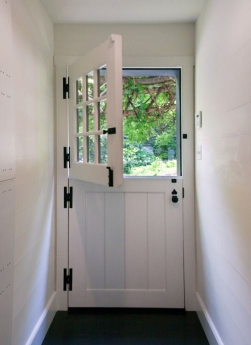 Love This Door Very Reminiscent Of The Horse Stalls And Tall Enough To Keep Dogs In Or Out But Still Get The Fresh A Dutch Door Barn Door Hinges Home